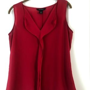WHBM Red Sleeveless Career top